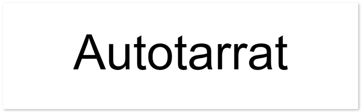 autotarrat